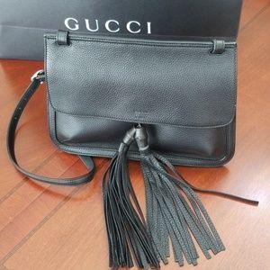 Gucci Black Leather Cross Body Bag